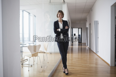 portrait of confident businesswoman in office