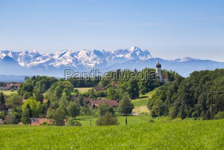 germany bavaria upper bavaria fuenfseenland alpine