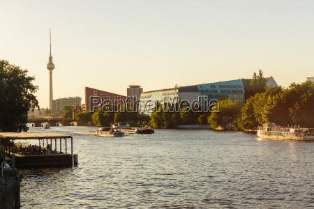 germany berlin modern buildings at spree