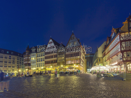 germany hesse frankfurt roemerberg in the