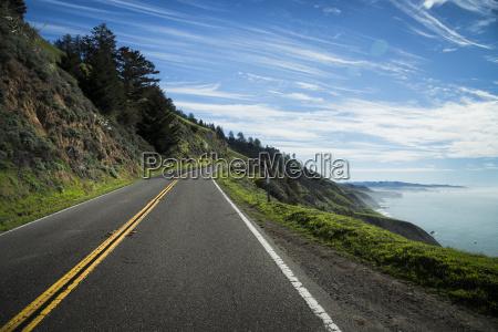 usa california coast at highway 1