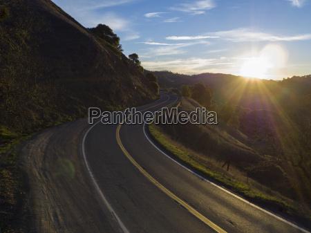 usa california orr spring road at