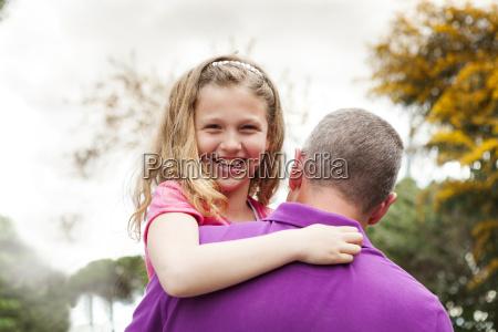 portrait of happy girl on her