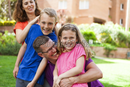 portrait of happy family in the