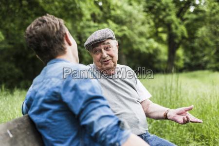 portrait of senior man sitting on
