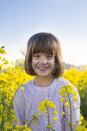 portrait of smiling little girl in