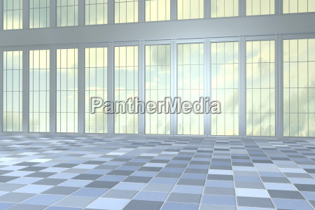 empty hall in a high rise