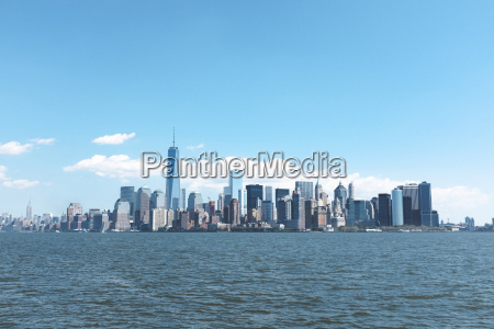 usa new york city view of