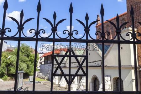 davidstern am metallzaun der alten synagoge