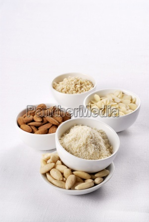 almonds whole shelled grated chopped and