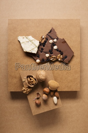 chocolates and a nut mixture consisting