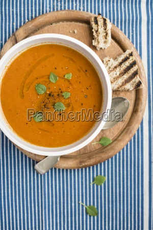 cream of tomato soup with fresh