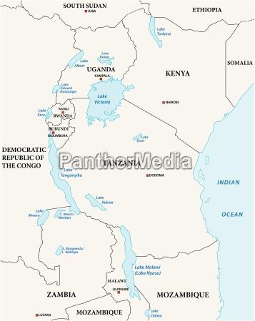 einfache vektor umrisskarte der afrikanischen grossen