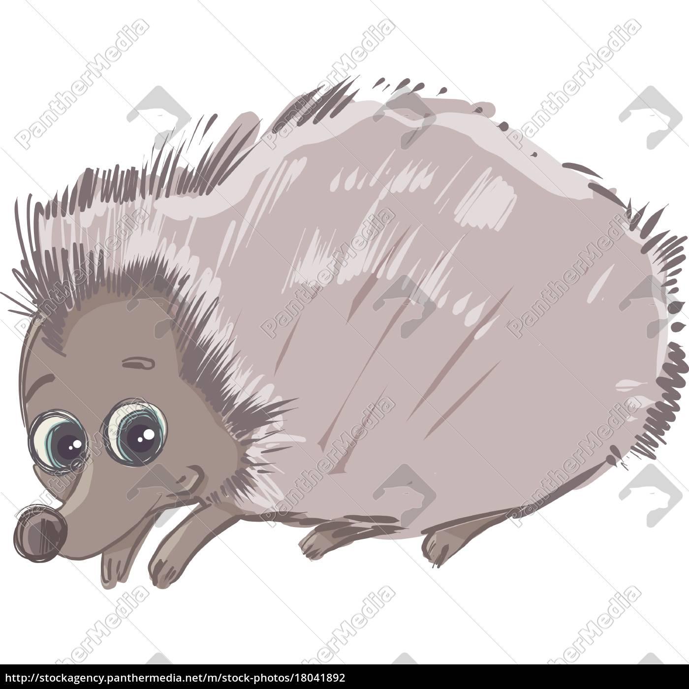 Lizenzfreie Vektorgrafik 18041892 Karikatur Igel Tier Charakter