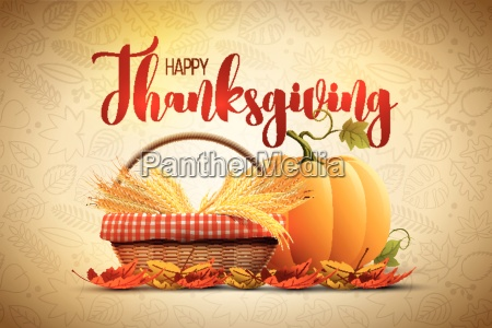 vector autumn happy thanksgiving poster design