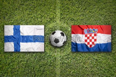 sport ball fahne flagge kroatien finnland