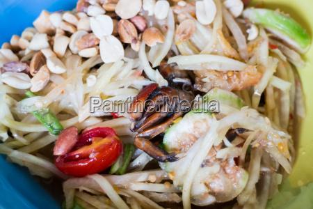gruener papaya salat thai kueche wuerzig