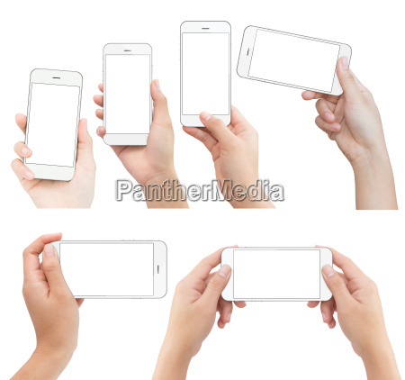 hand weiss telefon in die hand