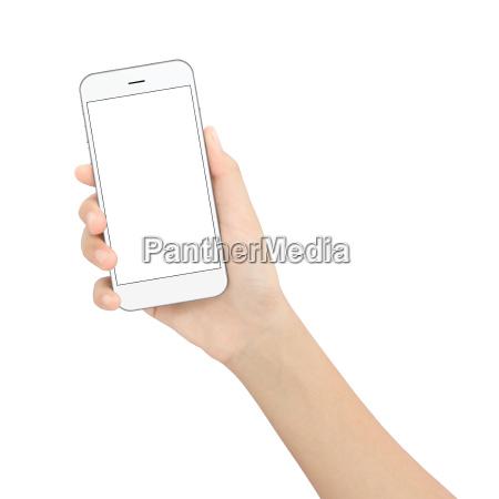 hand schwarz telefon in die hand