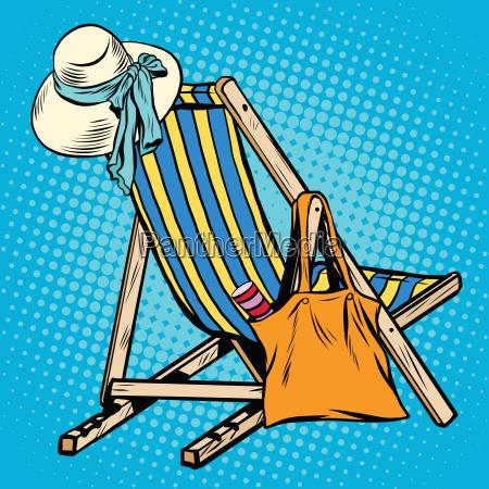 liegestuhl mit frauen strand dinge