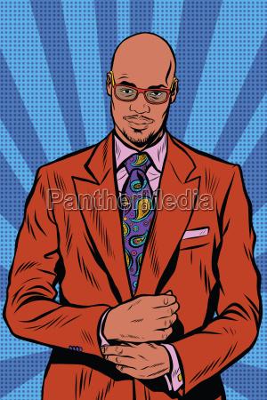 retro hipster african american black man