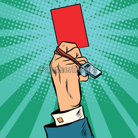 red card hand business concept