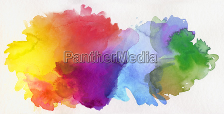 watercolor colors abstract isolated