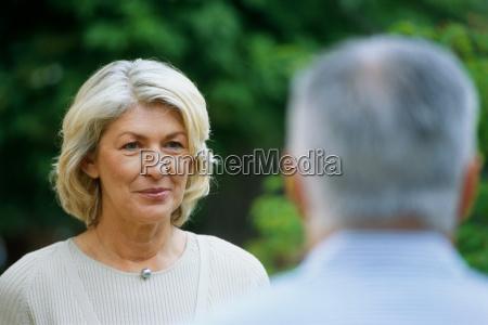 head shot portrait of mature woman