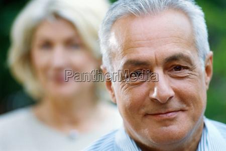close up portrait of mature man