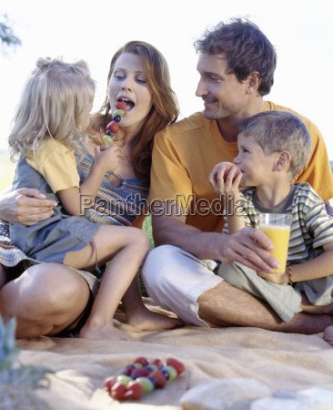 portrait of a family having a