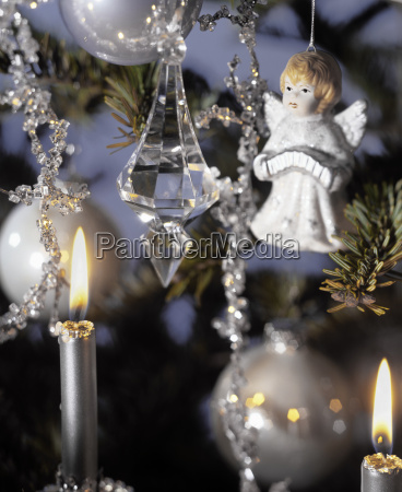 detail view of a decorated christmas