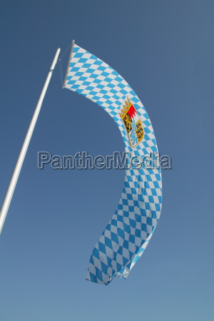 low angle view of a flag