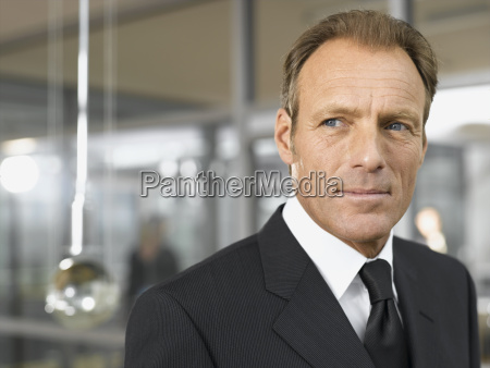 middle aged businessman in office