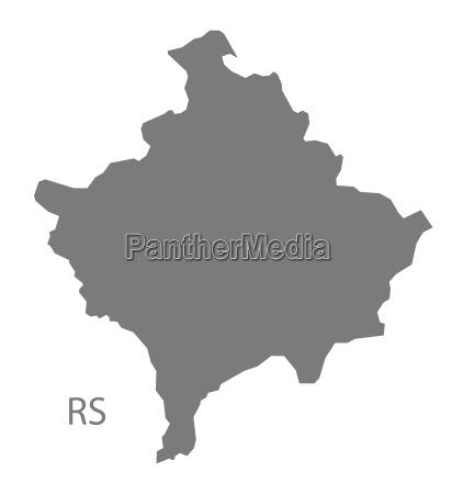 kosovo map grau