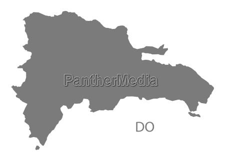 dominikanische republik karte grau