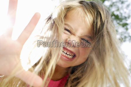 young cheerful girl portrait