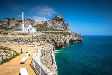 gibraltar wie gesehen von europa point