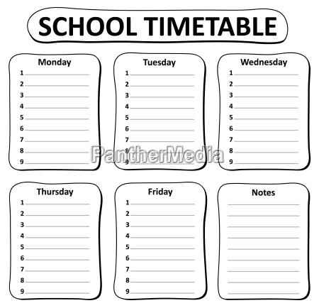 schwarz weiss schule zeitplan thema 1
