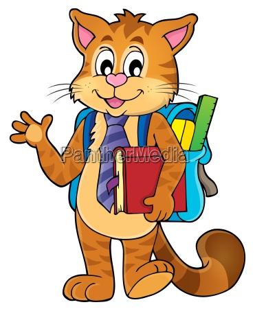 school cat theme image 1