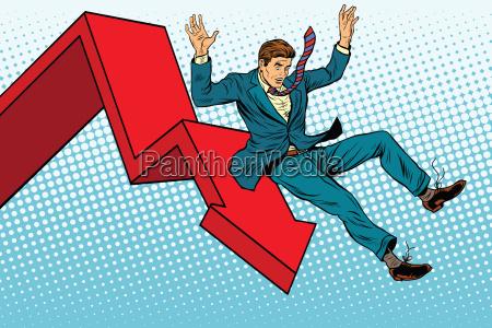 business maennlich finanzieller zusammenbruch herbst und