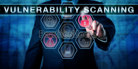 corporate manager touching vulnerability scanning