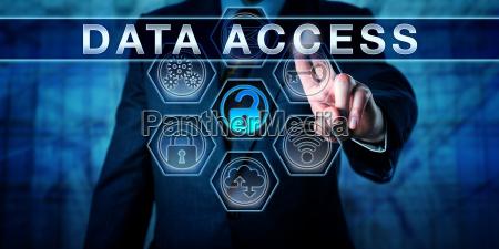 enterprise manager pressing data access