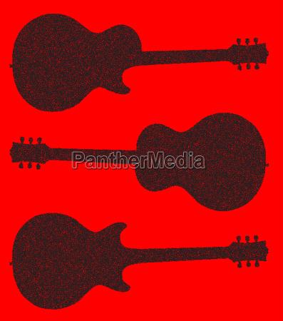 einzel elektrisch gitarre schnitt schneiden alleinstehend