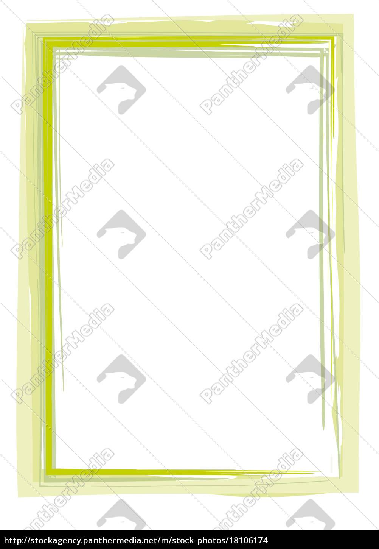 Rahmen Pinsel Strich grün - Stock Photo - #18106174 - Bildagentur ...