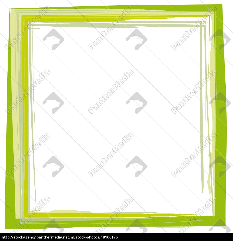 Rahmen Pinsel Strich grün - Lizenzfreies Foto - #18106176 ...