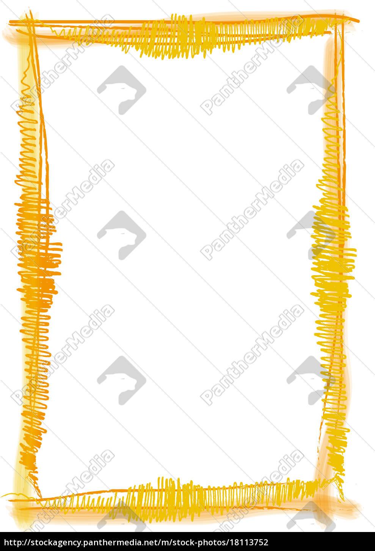 Rahmen Pinsel Strich gelb - Lizenzfreies Foto - #18113752 ...