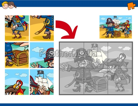 jigsaw puzzle task with pirates