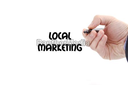 lokales marketing text konzept