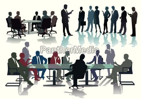 treffen und diskussionen verhandlung