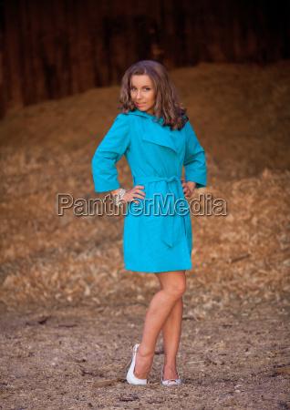 beautiful young woman in lingerie posing